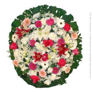 Coroa de Flores Luxo Rosa